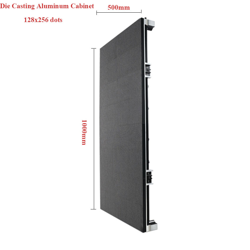 P3.91 SMD Indoor LED Display Screen 500x1000mm Die Casting Aluminum Cabinet,128x256 Dots, RGB Led Video Wall, Led Advertising