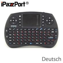 Free Shipping iPazzPort KP 810 21S Mini 2 4G Wireless German Deutsch Keyboard Air Mouse