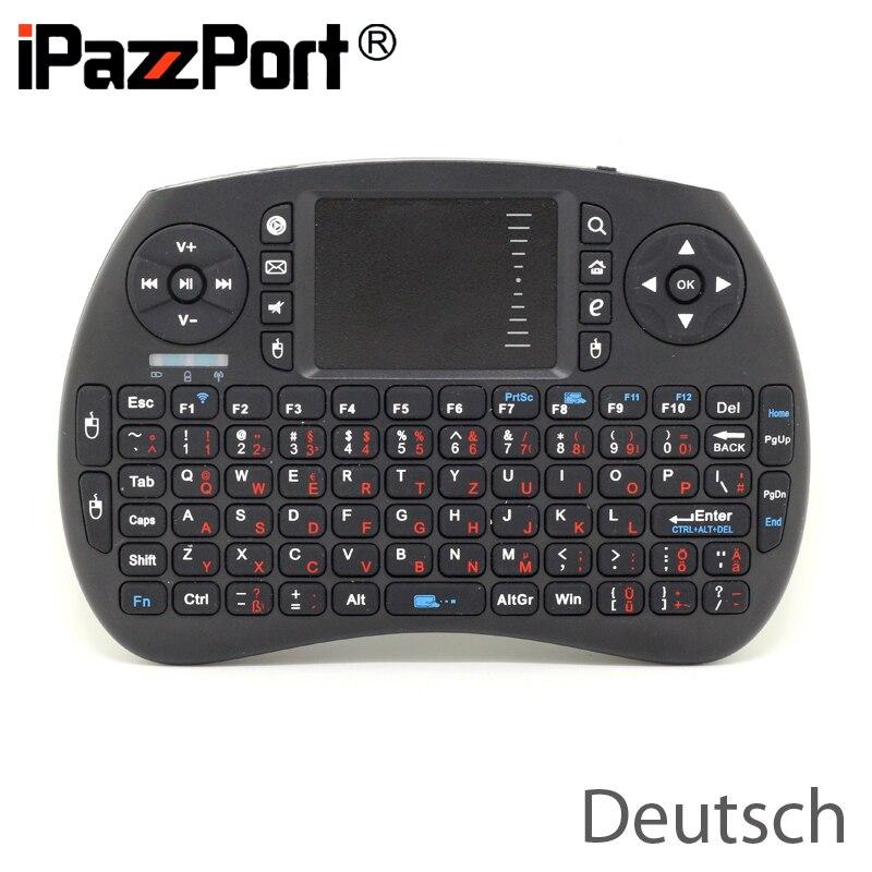 Free Shipping iPazzPort KP 810 21S font b Mini b font 2 4G Wireless German