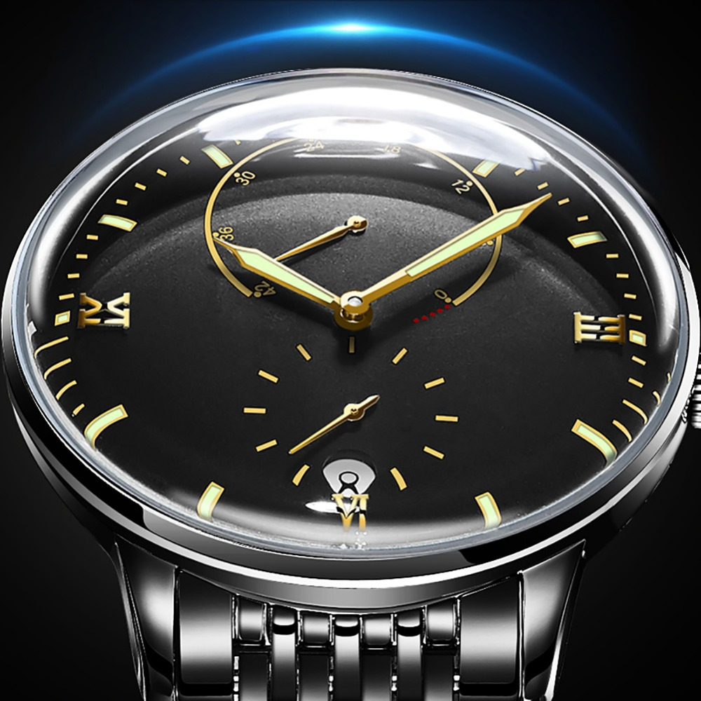 Mens Watches Automatic Mechanical Watch Waterproof Luminous Date Automatic Watch 3D Stereo coating arc design Men WristwatchesMens Watches Automatic Mechanical Watch Waterproof Luminous Date Automatic Watch 3D Stereo coating arc design Men Wristwatches