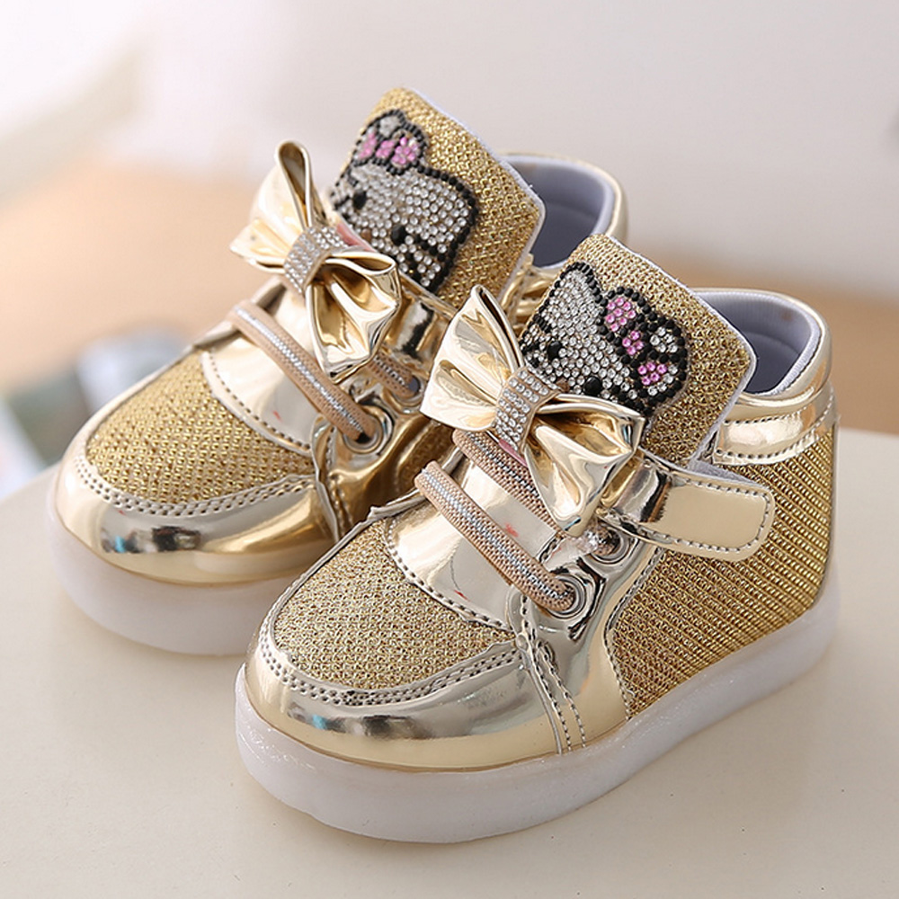 NWT gold sparkle dressy shoes GIRLS us size kids 3