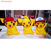 40CM Pikachu Action Figure PVC collectible model Doll Toys with 1 hats Novelty Children favorite Gifts Room decoration HB77