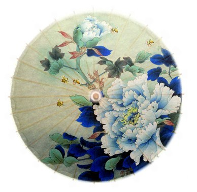 Free shipping graceful peony figure oiled paper umbrella chinese handmade classical women rain gift collection umbrella
