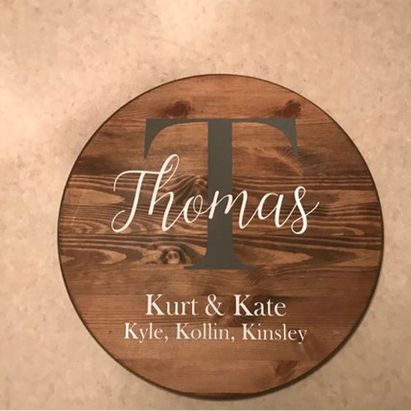 Wooden Wedding Signs.Us 29 99 Romantic Fashion Wooden Wedding Sign Display Bride Groom Name Date Display Card Round Wedding Signs Personalized Wooden Sign In Party