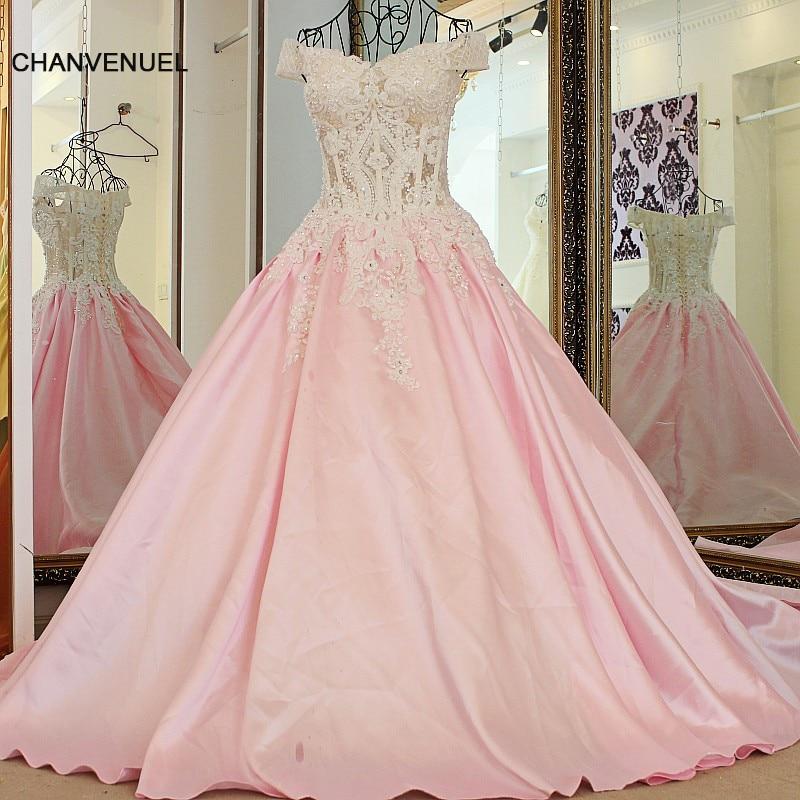 1a31972866 LS24701 formalna sukienka na ślub różowy off the shoulder aplikacje koronki  gorset powrót satynowa suknia balowa szata wieczór longue femme w LS24701  ...
