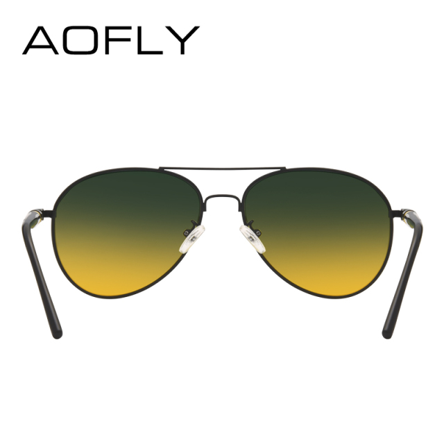AOFLY Polarized Sunglasses Men's Night Vision Glasses Driving Anti-Glare Metal Frame Brand Design Goggles AF8047 3