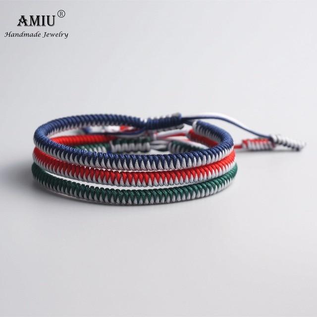 AMIU Multi Color Tibetan Buddhist Good Lucky Charm Tibetan Bracelets & Bangles 2