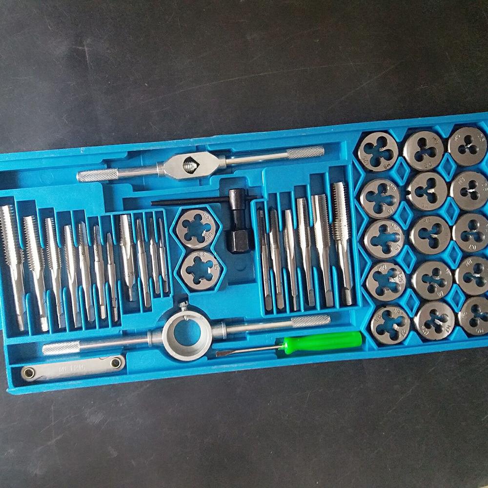 20pcs Set Alloy Steel Taps And Dies Set M3 M12 Screw Thread Die Wrench Manual Metric Tapping Tool Kit Set 2
