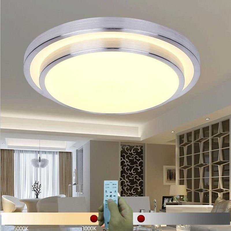 KINLAMS NY Moderne LED Loftslampe 30W med ægte 2,4 G RF fjernstyret - Indendørs belysning