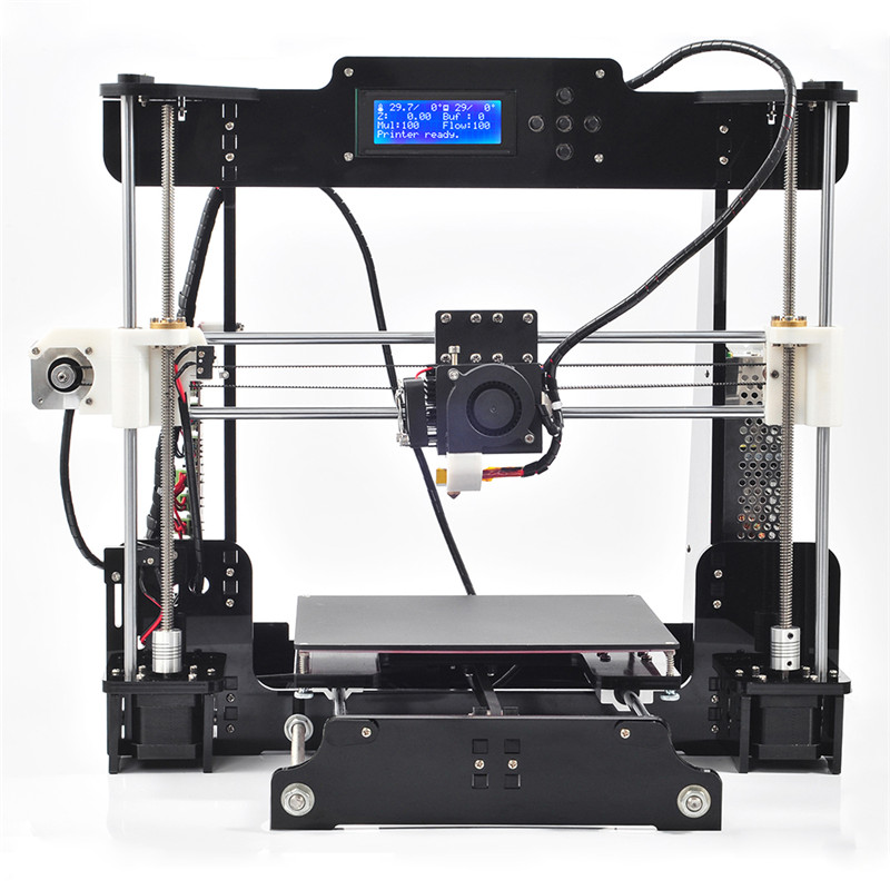 Reprap Prusa i3 DIY 3DP impressora desktop 3d Printer Machine kit with 1 Roll Filament 16GB SD card and LCD imprimante impresora