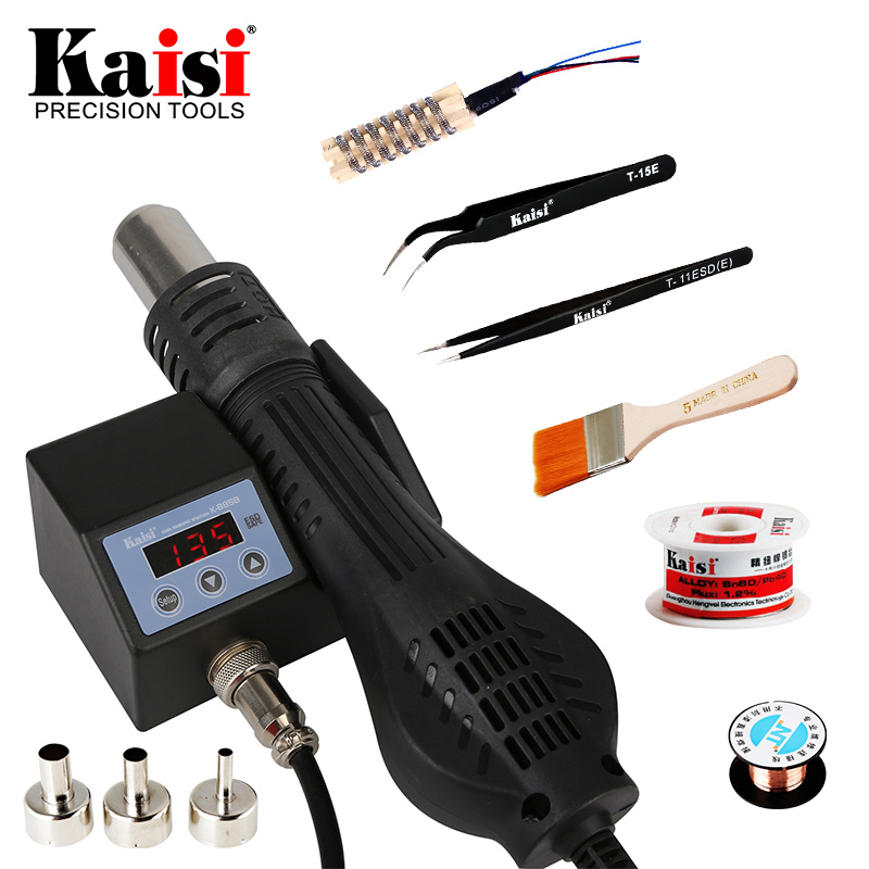 Kaisi 8858 220V/110V Portable Heat Hot Air Gun BGA Rework Solder Station Better Hand-held Hot Air Blower 700W 8858 110v 220v portable bga rework solder station hot air blower heat gun better saike 8858
