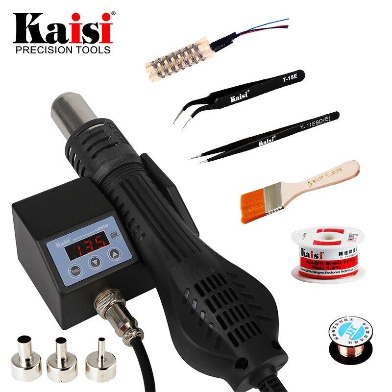 Kaisi 8858 220V/110V Portable Heat Hot Air Gun BGA Rework Solder Station Better Hand-held Hot Air Blower 700W