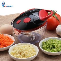 Upspirit wielofunkcyjny nóż do warzyw Chopper instrukcja krajalnica do mięsa młynek trzepaczka do jajek urządzenie do robienia sałatek ze stali nierdzewnej narzędzia kuchenne