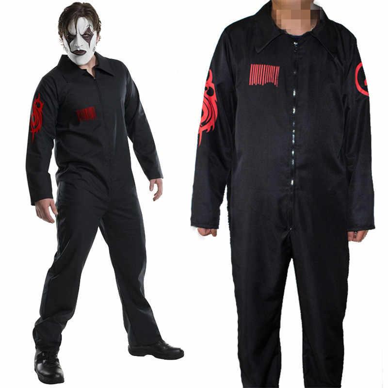Qualidade superior slipknot joey jordison kabuki cosplay trajes das mulheres dos homens com zíper macacões role play halloween party terno novo