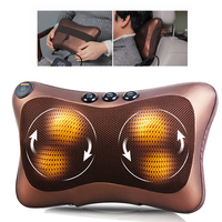 Car Home 4/8 Rollers Massage Pillow Cushion Pain Relief Shoulder Back Neck Massager Electric Kneading Massage Pillow Cushion