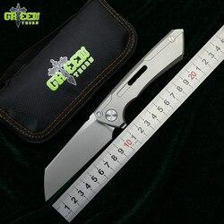 Verde spina SNECX BUSTER coltello pieghevole M390 lama TC4 titanium maniglia guarnizione in Rame Esterna di campeggio utility frutta della lama di edc STRUMENTO