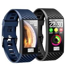 DT58 Large Color Screen Smart Bluetooth Bracelet Blood Pressure ECG Heart Rate Sleep Monitoring Sports Tracker Waterproof Band