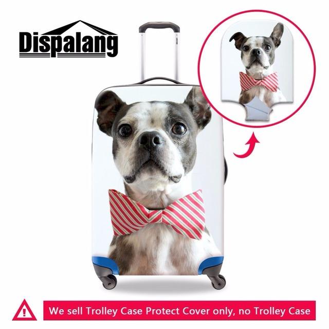 """Dispalang cão bonito tampa da mala de viagem da bagagem do trole caso capa protetora s/m/l aplicar a 18 """"/20""""/22 """"/24""""/26 """"/28""""/30 """"casos de viagens"""