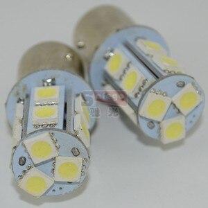 Image 5 - Safego 10 adet P21W 1156 1157 LED dönüş sinyali ampul 5050 13 SMD S25 BAY15D BA15S araba fren park lambaları park lambası 12V beyaz