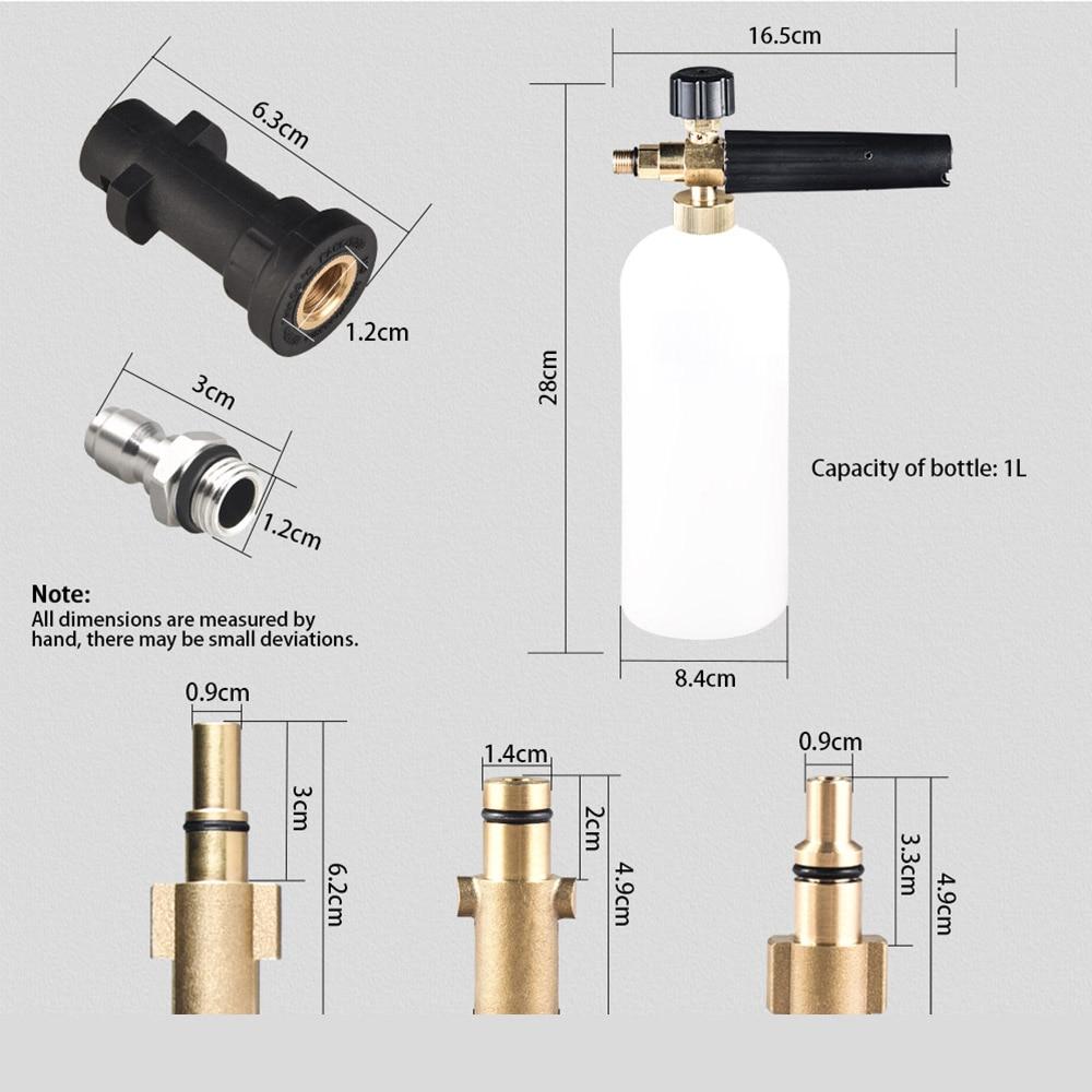 Schiuma Pistola per Karcher K2-K7 Serie Neve Schiuma Lance Professionale Generatore di Schiuma di Lavaggio Auto 1/4