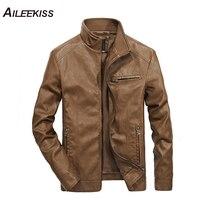 2019 Men Solid Casual Moto Biker Leather Jackets Man Bomber Jacket Male Outwear Coat Autumn Pilot Jacket Mans Cool Jacket XT451
