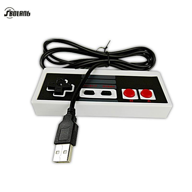 Plastic USB Gamepads Controller Gaming Gamer JoyStick Joypad For NES W