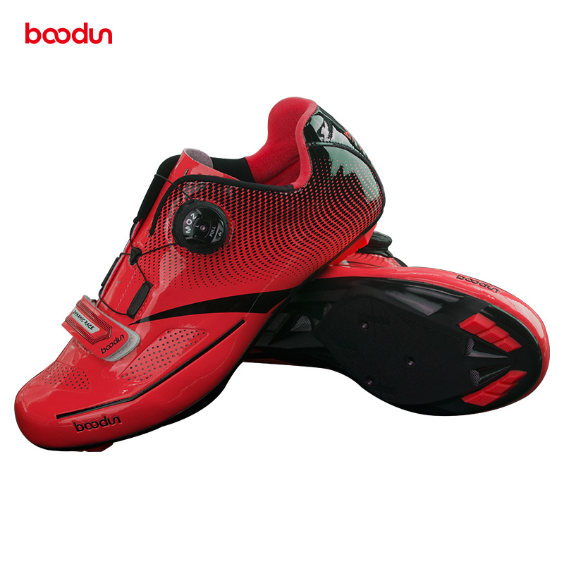 Boodun Cycling Shoes Road Bicycle Breathable Pro Self-Locking Bike Shoes Ultralight Athletic Racing Sneakers Cycling Equipment