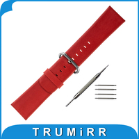 24mm Genuine Leather Strap For Sony Smartwatch 2 SW2 Watchband Stainless Steel Pin Buckle Band Bracelet