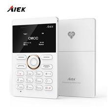 Новое поступление ультра тонкий AIEK/aeku E1 мини сотовый телефон карты студент открыл мобильный телефон карман телефон low radiation Multi Language