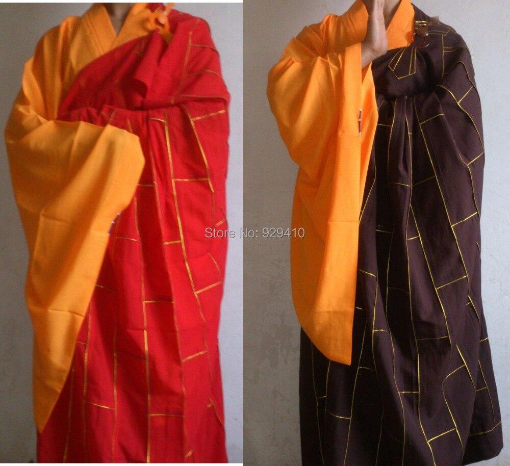 Sportbekleidung Buddhistischen Unisex Laien Kleidung Meditation Abbot Kampfkunst Mönch Anzüge Lange Robesgown Haiqing China Berühmte Marke Jacken