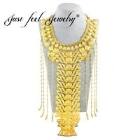 Просто чувствую Эфиопский невесты свадебные украшения золото Цвет кисточкой Длинные Цепочки и ожерелья большой круглый Цепочки и ожерелья