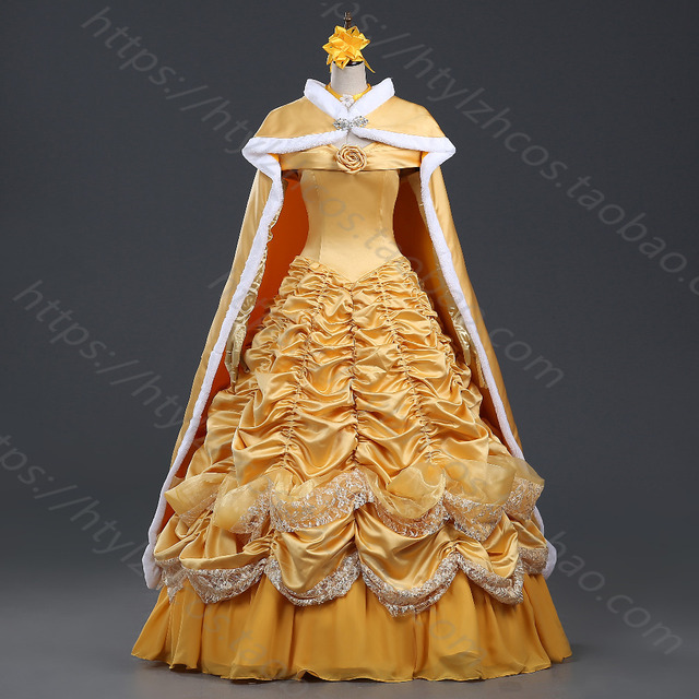 Beauty And The Beast Costume Princess Belle Cosplay Costume Dress