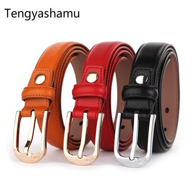 Пояс моды хорошее качество женщина пояса 100% Натуральная кожа дизайнер ремни для женщин металлической пряжкой ремень марки ceinture femme