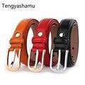 Cinturón de correa de la mujer de moda de la buena calidad 100% Genuino cinturones de cuero de diseño para las mujeres de metal pin hebilla de la correa de la marca ceinture femme
