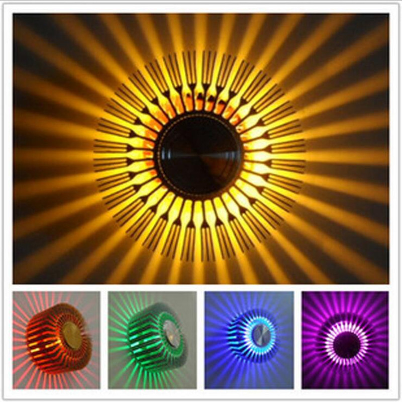 Creative LED Indoor RGB Wall Lights Lamp High Quality Lamps Energy Saving Colorful Background Mounted Lighting Living Room Aisle e27 15w trap lamp uv spiral energy saving lamps purple white
