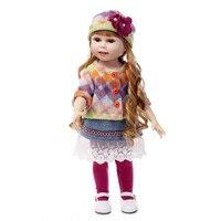 18 inches Silicone American Girl Doll Reborn Dolls Babies Realistic Cute Doll Handmade Full Vinyl Valentine Girls Gifts