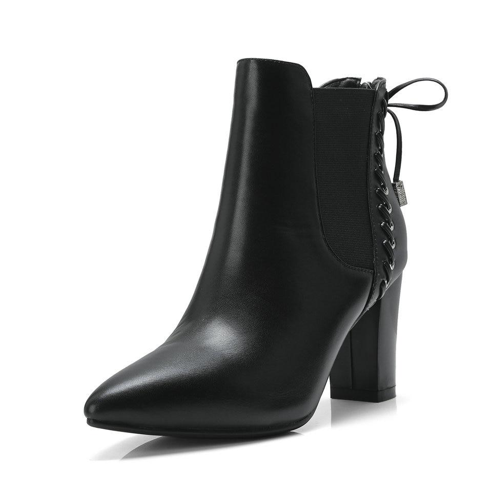 Mujeres Zapatos Tacones Tamaño Negro Botas Mariposa Eshtonshero Damas De Altos Motocicleta Vaca Pu Cuero negro White Beige 3 Zipper nudo 8 Mujer dIwfadBFq