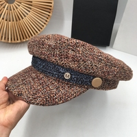 South Korea fashion people new knitting octagonal cap female summer autumn winter navy beret in the spring and autumn