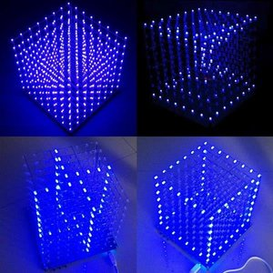 Image 1 - 8x8x8 LED Cube 3D Light Square Blue LED Electronic DIY Kit