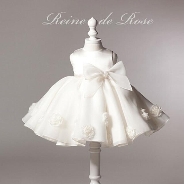 Brand formal newborn wedding dress baby girl bow pattern for toddler 1 2 years ropa bebe