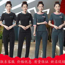 Cosmetician work clothes beauty salon tooling hotel sauna technician dress new style 2019 summer foot bath club set