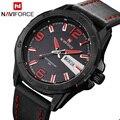 2016 Новая Мода Мужские Часы Армии Военные Спортивные Часы мужские Кварцевые Дата Часы Мужчины Luxury Brand Кожаный Ремешок Наручные часы