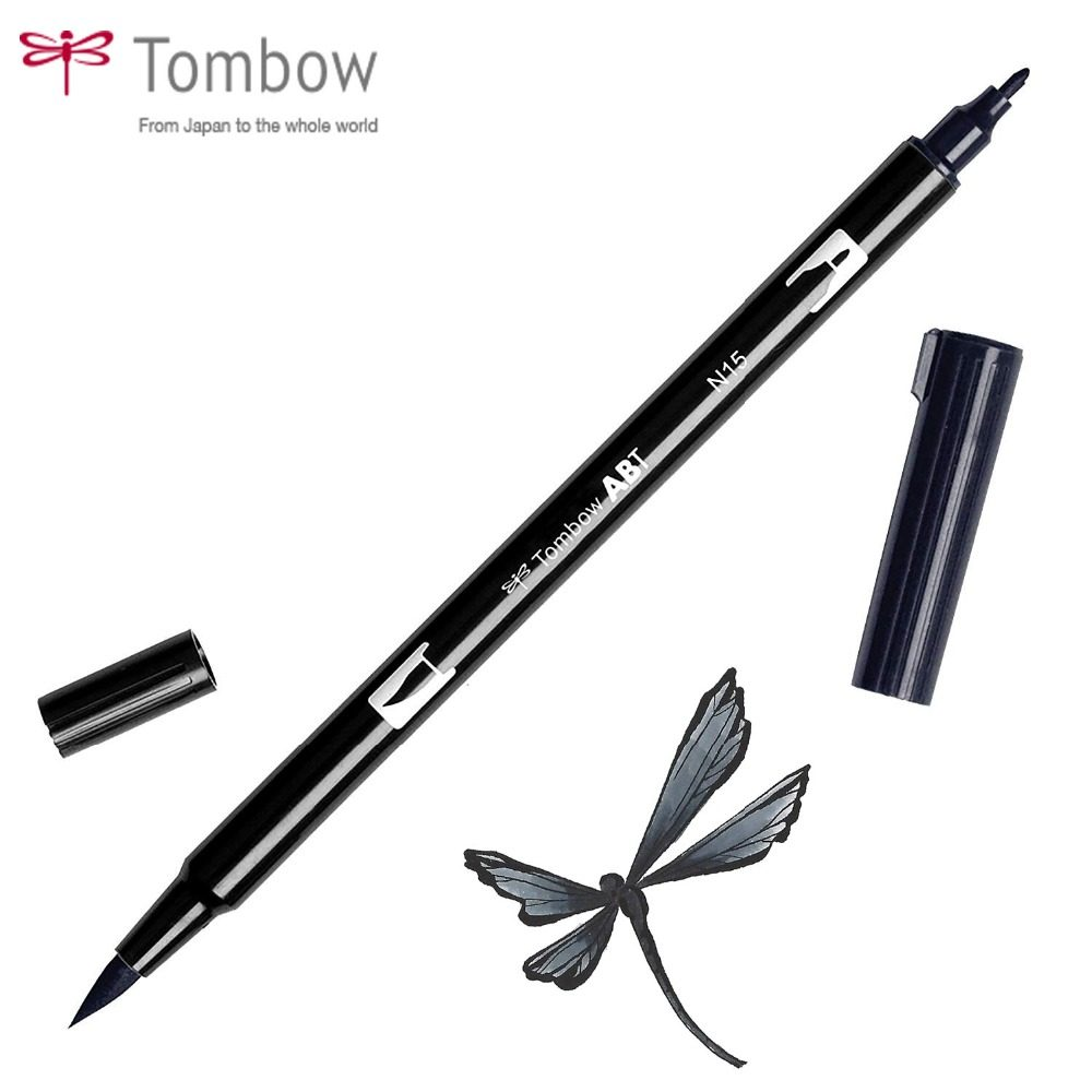 4pcs Lot Japan Calligraphy Brush Pen Set Thick Medium Small
