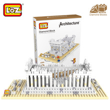 Mr.Froger LOZ Greek Temple Diamond Block World Famous Ancient Architecture Series Athens Greece City Building Blocks Classic Toy
