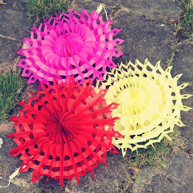 New 5pcs Tissue Paper Fan Diy Crafts Hanging Wedding: 2PCS/Set Tissue Paper Cut Out Paper Fans Pinwheels Hanging