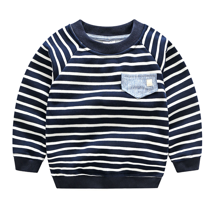 High Quality Boys Long Sleeve Sweatshirt Children Sweaters Stripe Pattern Baby Boys Girls Unisex Tops New Fashion Pullover