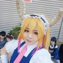 Аниме Kobayashi san Chi no Maid Dragon Косплей Опора Tohru Dragon Horns Tooru головные уборы высокого качества ручной работы EVA материал