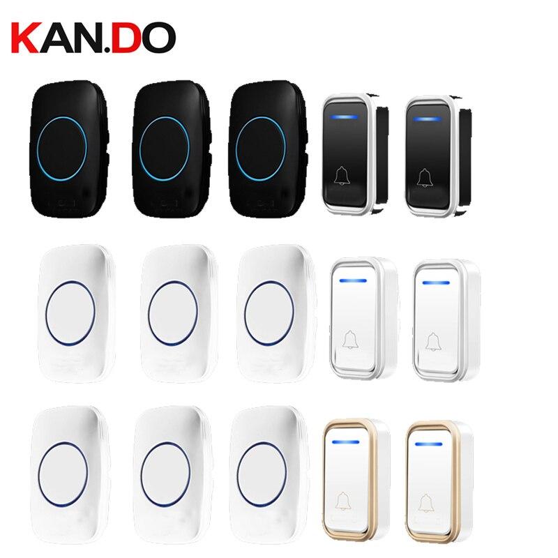 Bell Kits 2 Emitter 3 Receivers Wireless Door Bell Set By 110-220V Doorbell Ip44  300M Door Chime Door Ring For Villa Use