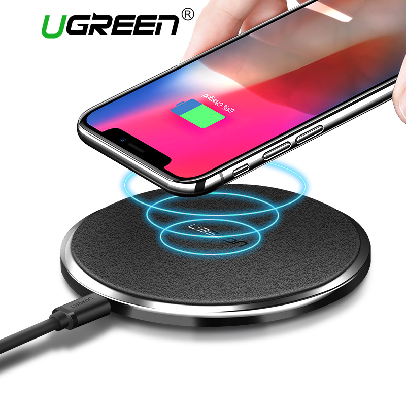 Ugreen 10 W Qi Caricabatterie Wireless per il Samsung S8/S8 +/S7 Edg Veloce Wireless di Ricarica per iPhone 8/X Nexus5 Lumia 820 USB Charger Pad