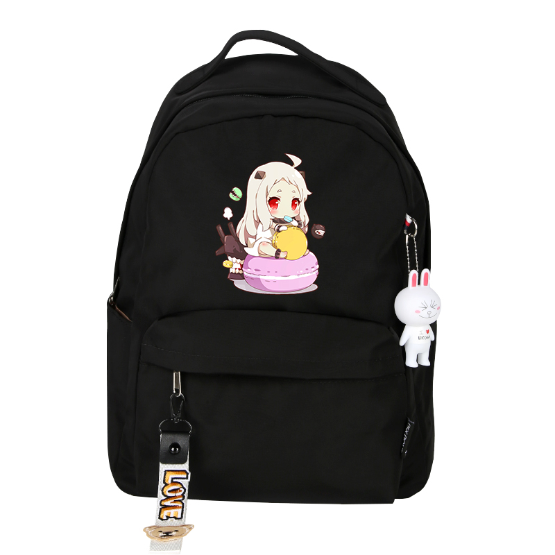 Japan Anime Kantai Collection Shimakaze Printing Women Cute Backpack Laptop Backpack Nylon School Bags Cartoon Travel Bagpack